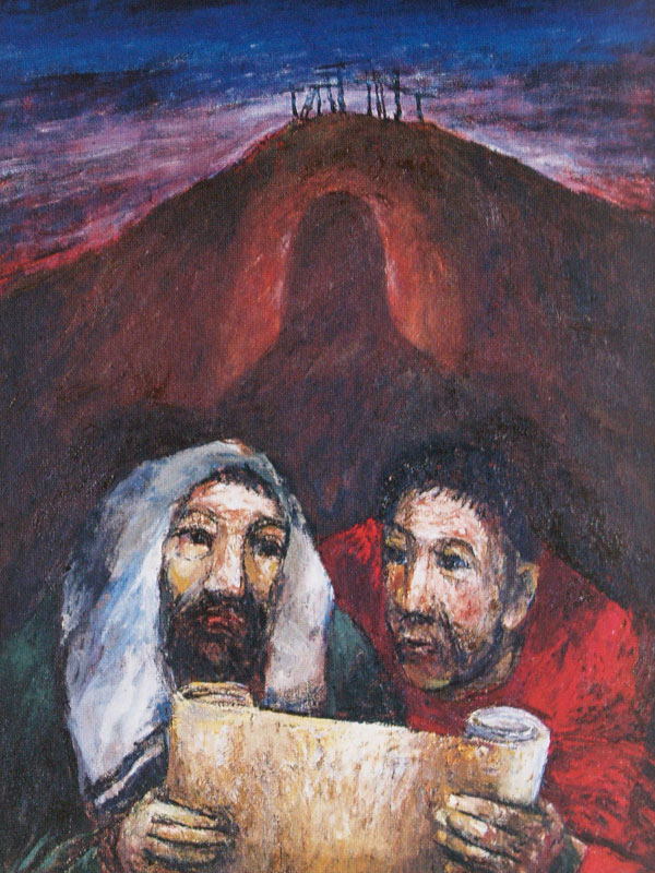 Emmausjünger-und-Christus